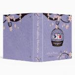 Presos del álbum de foto violeta del boda del amor