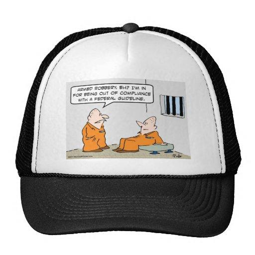presos federales de la pauta de la conformidad gorra
