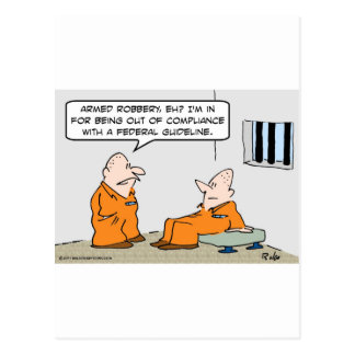 presos federales de la pauta de la conformidad tarjeta postal