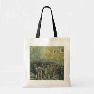 Presos que ejercitan por Vincent van Gogh Bolsa Tela Barata