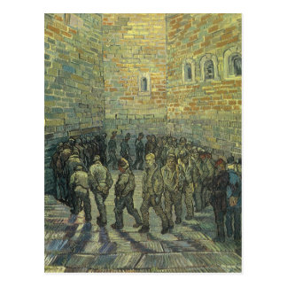 Presos que ejercitan por Vincent van Gogh Postales