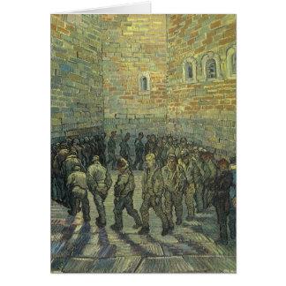 Presos que ejercitan por Vincent van Gogh Tarjeta De Felicitación