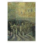 Presos que ejercitan, Van Gogh, bella arte del Felicitacion