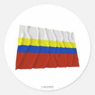 Presov Waving Flag Classic Round Sticker