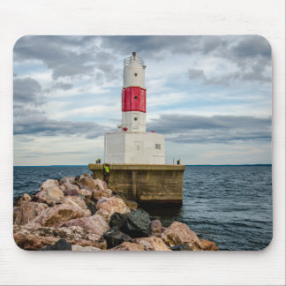 Presque Isle Harbor Breakwater Lighthouse Mouse Pad