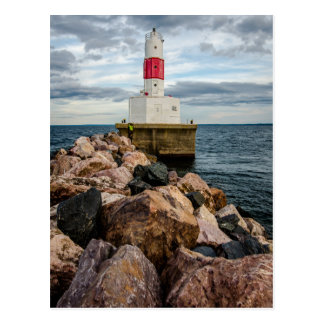 Presque Isle Harbor Breakwater Lighthouse Postcard