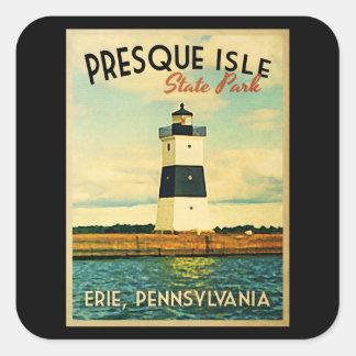 Presque Isle Lighthouse Square Sticker