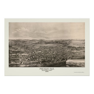 Presque Isle, ME Panoramic Map - 1894 Poster