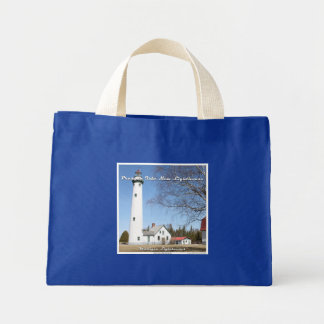 Presque Isle New Lighthouse: Small Tote Bag