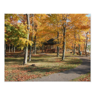 Presque Isle Park on a Fall Day Poster