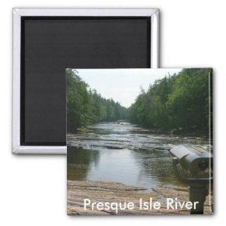 Presque Isle River 2 Inch Square Magnet