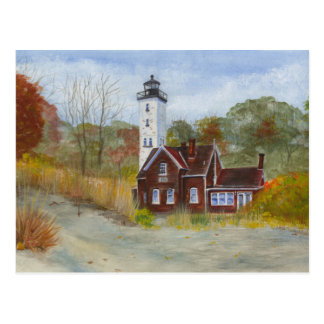 Presque Isle State Park Lighthouse... Erie, PA Postcard