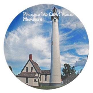 Presque Isles Light House Plate