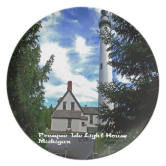 Presque Isles Light House Party Plate