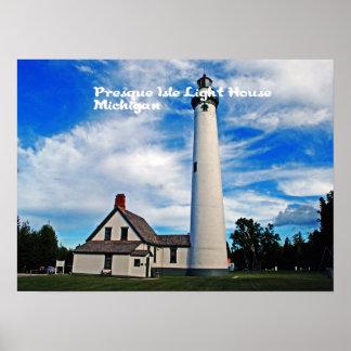 Presque Isles Light House Poster