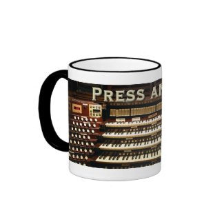 Press Any Key organ mug