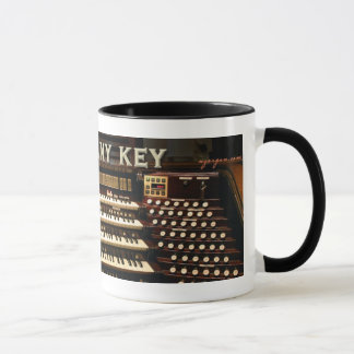 Press Any Key organ mug