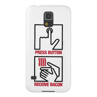 Press Button - Receive Bacon Galaxy S5 Covers