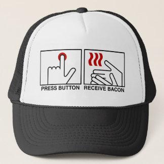 PRESS BUTTON RECEIVE BACON Hat