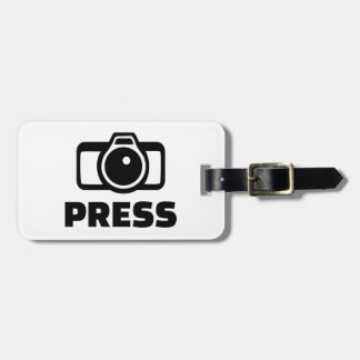 Press camera luggage tag