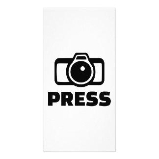Press camera custom photo card