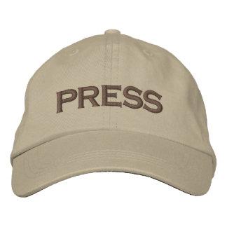 Press Embroidered Baseball Cap / Baseball Hat