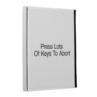Press Lots Of Keys To Abort iPad Folio Case