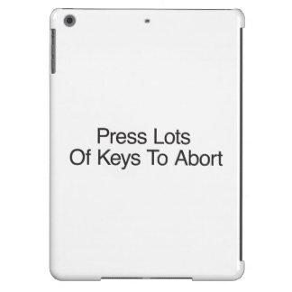 Press Lots Of Keys To Abort iPad Air Case