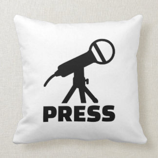 Press microphone throw pillow
