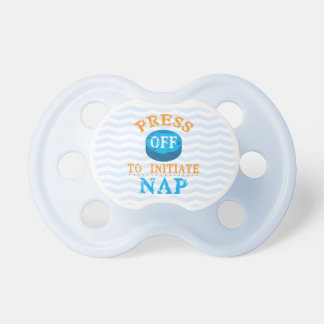 Press Off Button to Initiate Nap Pacifier