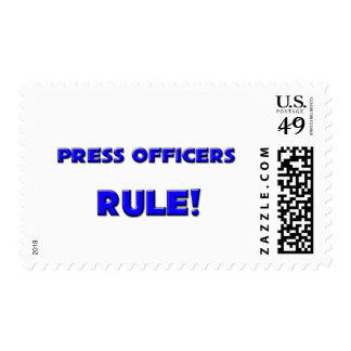 Press Officers Rule! Postage Stamps