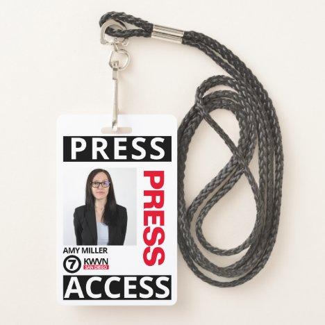 Press Pass Employee Badge