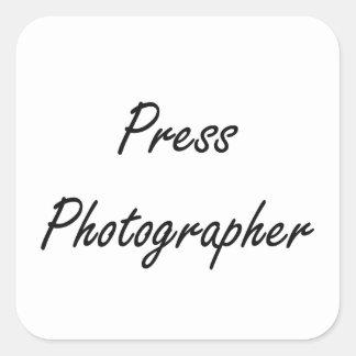 Press Photographer Artistic Job Design Square Sticker