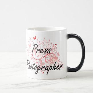 Press Photographer Artistic Job Design with Butter Magic Mug