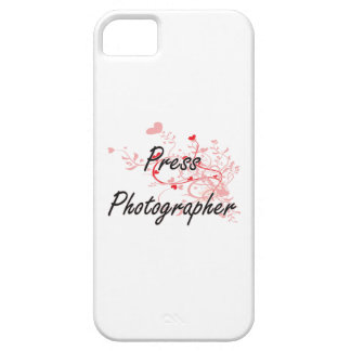 Press Photographer Artistic Job Design with Hearts iPhone 5 Covers