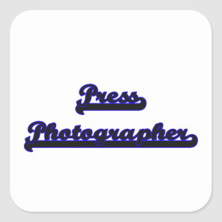 Press Photographer Classic Job Design Square Sticker