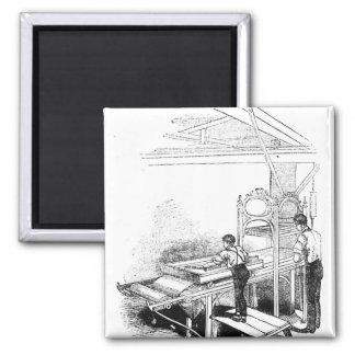 Press-printing Magnets