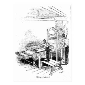 Press-printing Postcard