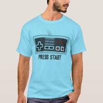 Press Start Retro Gaming T-Shirt for Men