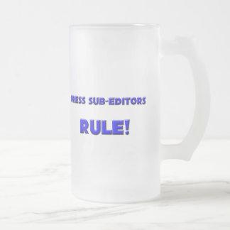 Press Sub-Editors Rule! 16 Oz Frosted Glass Beer Mug