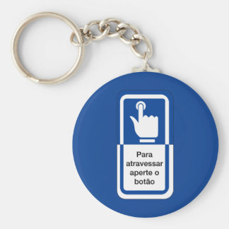 Press the Button to Cross, Brazil Traffic Sign Key Chains