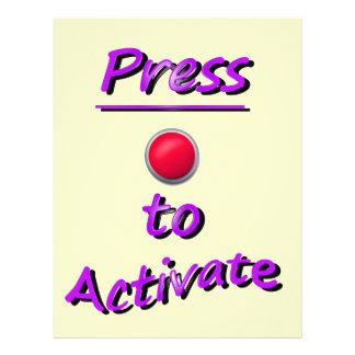 Press To Activate Letterhead