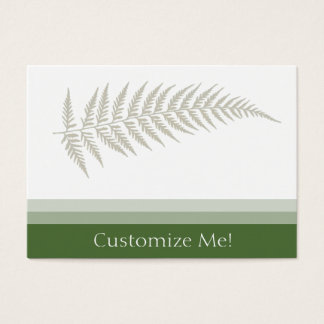 Pressed Botanical Fern Leaf - Choose Any Color Business Card