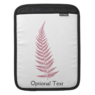 Pressed Botanical Fern Leaf - Mix and Match Color Sleeves For iPads