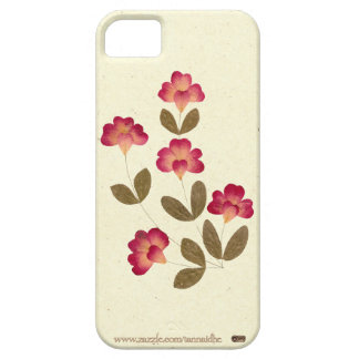 Pressed Bright Pink Tube Flowers iPhone SE/5/5s Case