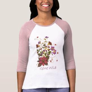 Pressed Flower Bouquet T-Shirt - Clematis