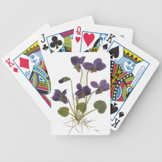 Pressed Flower Design Bicycle Playing Cards