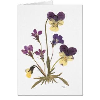 Pressed Flower Design Card