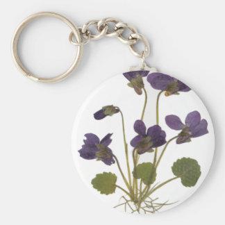 Pressed Flower Design Keychain
