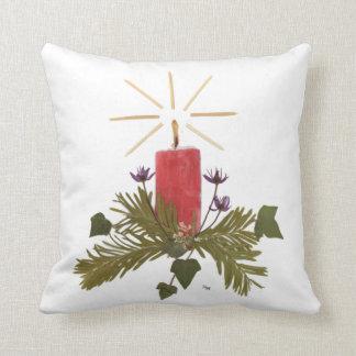 Pressed Flower Design Throw Pillow